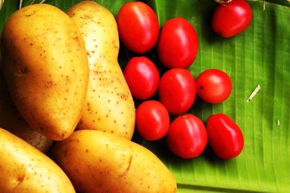 بازار گوجه فرنگی و سیب زمینی